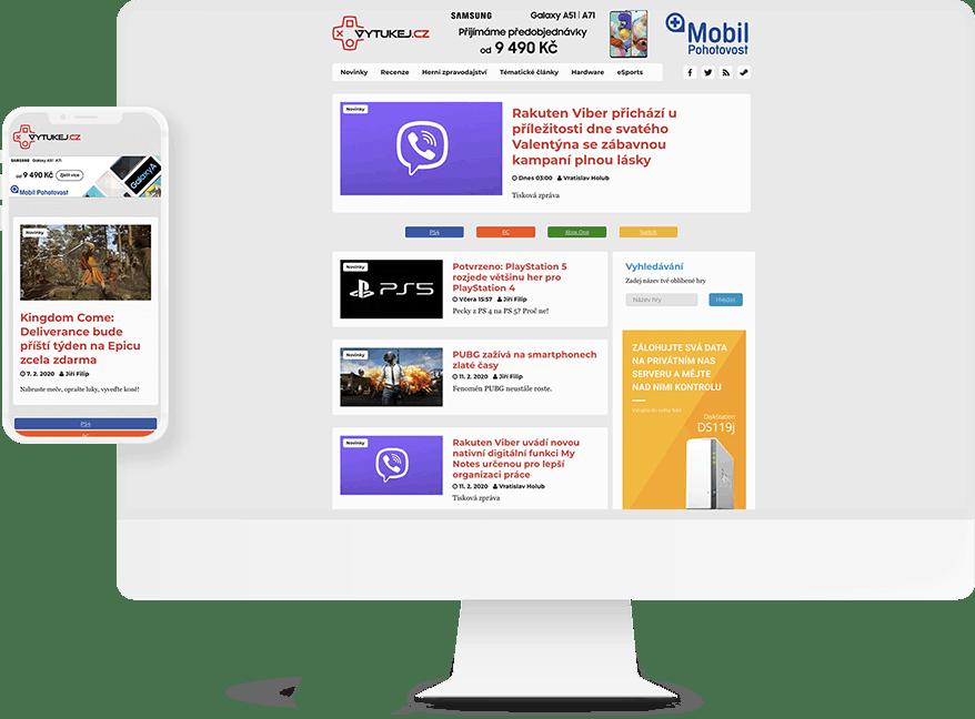 Náhled webu