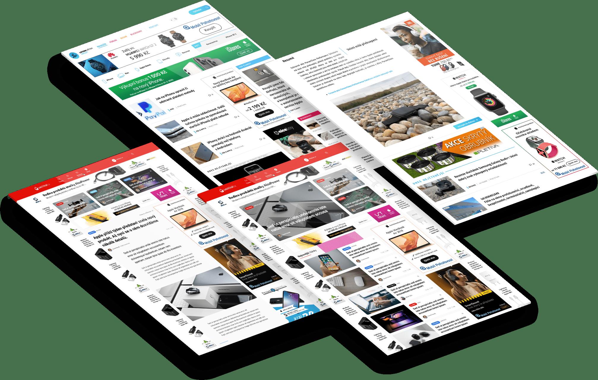 3D zobrazení webů TextFactory